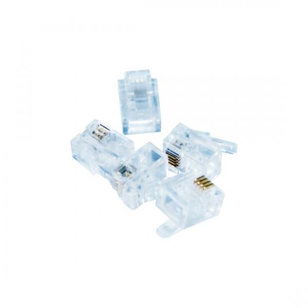 Коннектор, UTP RJ-11, 4 pin